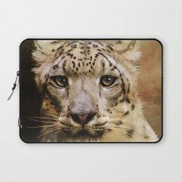 Hope For Tomorrow - Snow Leopard Art Laptop Sleeve