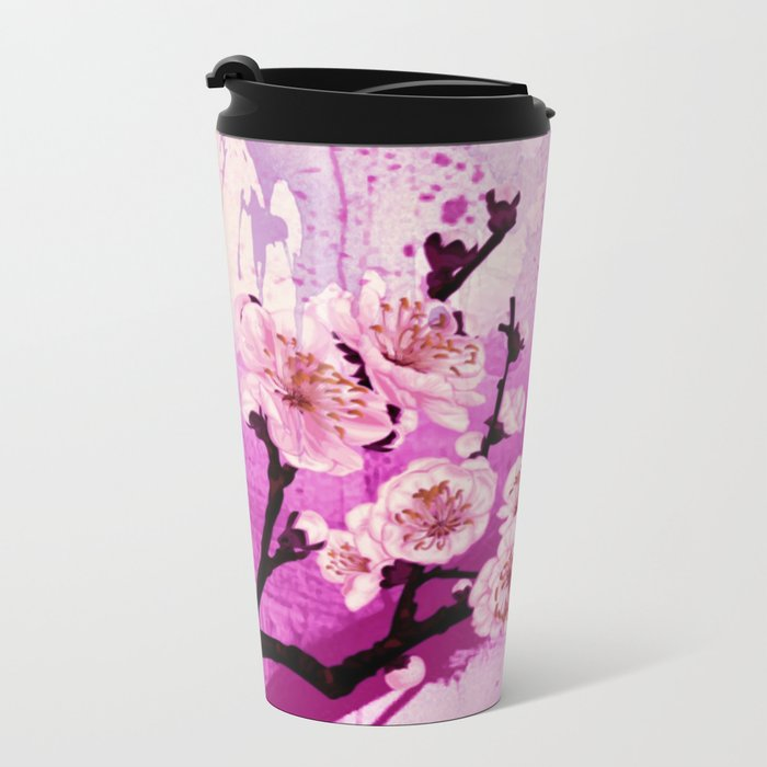 fleur de pommier Metal Travel Mug