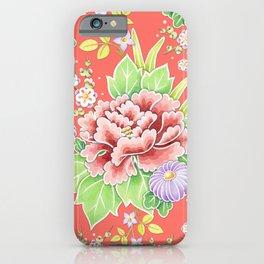 Coral Kimono Chintz iPhone Case