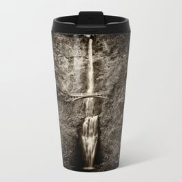 Waterfalls-B&W-Sepia Metal Travel Mug