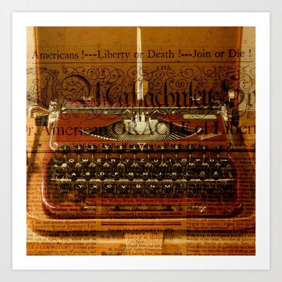 writing machine Art Print