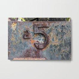 Rusty 5 Rail Yard Numbers East Broad Top Pennsylvania Metal Print