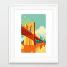 Brooklyn Bridge NYC Framed Art Print