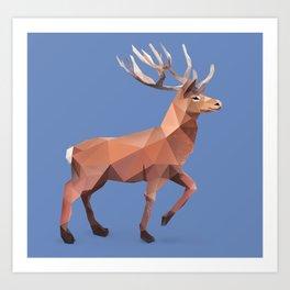 Reindeer.  Art Print
