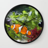 finding nemo Wall Clocks featuring Finding Nemo! by Becky Dix