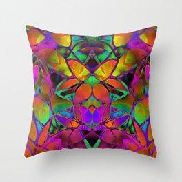 Floral Fractal Art G306 Throw Pillow
