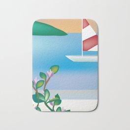 St. Croix, Virgin Islands- Skyline Illustration by Loose Petal Bath Mat