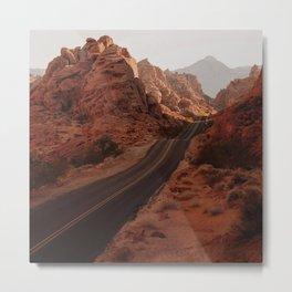 On a Dark Desert Highway Metal Print