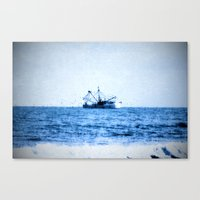 entourage Canvas Prints featuring Blue Dream by Forgotten Beauty