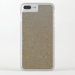 sand, sea and shells Clear iPhone Case