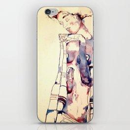 Purple Lady iPhone Skin