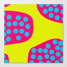 Green Purple Dots Canvas Print