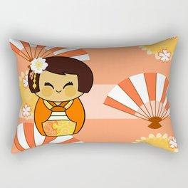 Kokeshi Momo Rectangular Pillow