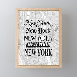 New York City black and white New York poster I love heart NYC Design black-white home wall decor Framed Mini Art Print