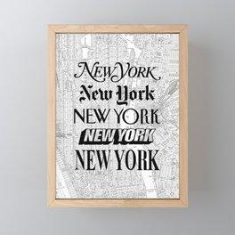 New York City black and white New York poster I love heart NYC Design black-white home wall decor Framed Mini Art Print