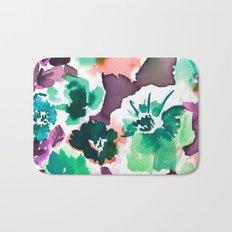 Zoe Floral Sea Green Bath Mat
