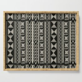 Boho Mud cloth (Black and White) Serving Tray