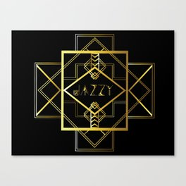 Jazzy Letterform and Pattern Canvas Print