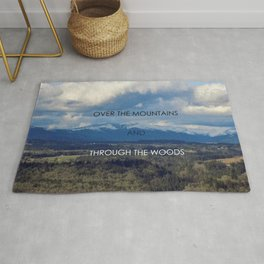 Over the Mountains and Through the Woods Rug