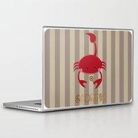 scorpio Laptop & iPad Skins featuring Scorpio by Esther Ilustra