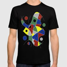 Abstract #232 MEDIUM Black Mens Fitted Tee