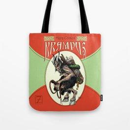 """Here Comes Krampus"" Tote Bag"