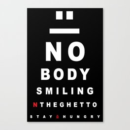 Nobody Smiling 20/20 Vision - Peppermint Canvas Print