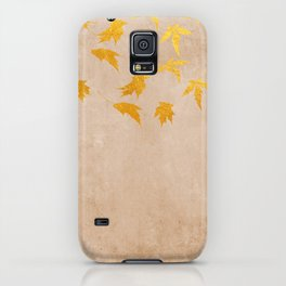 Gold leaves on grunge background - Autumn Sparkle Glitter design iPhone Case