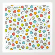 Another pattern with hearts. Art Print