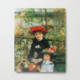 Auguste Renoir - On The Terrace Metal Print