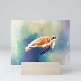 Sea Turtle Painting Mini Art Print