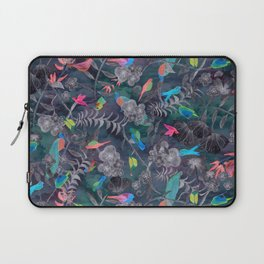 Birds and Flowers Color Pencil Laptop Sleeve