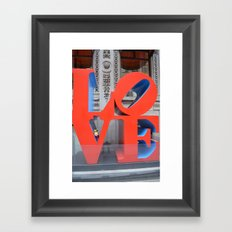 LoVe Gnome Framed Art Print