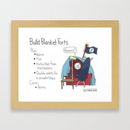 Build Blanket Forts Framed Art Print