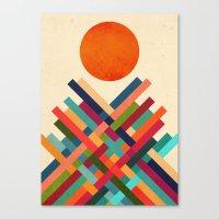 sun Canvas Prints featuring Sun Shrine by Picomodi