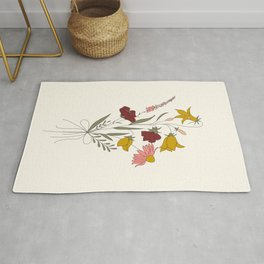 Wildflowers Bouquet Rug