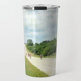 Bicycle Riders Arrive in Fairfield Travel Mug