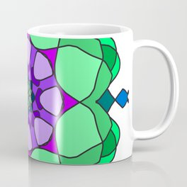 floral mandala gzhel effect Coffee Mug