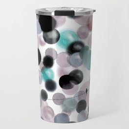 multicolored and geometric digital drawing bubbles and birds Happy design Travel Mug