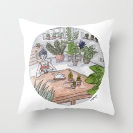 Personal Garden Throw Pillow