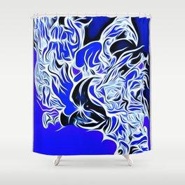 blue 12 Shower Curtain