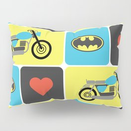 The Bike & The Bat Pillow Sham
