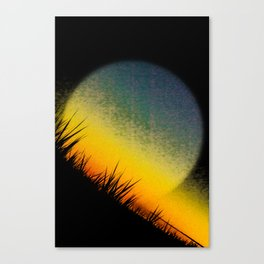 thoughts absorbed Canvas Print