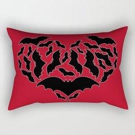 Batty Love Red Rectangular Pillow