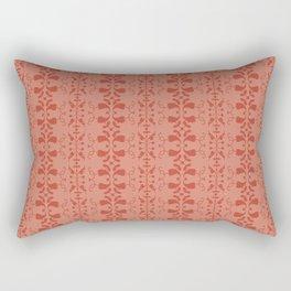 red retro pattern Rectangular Pillow