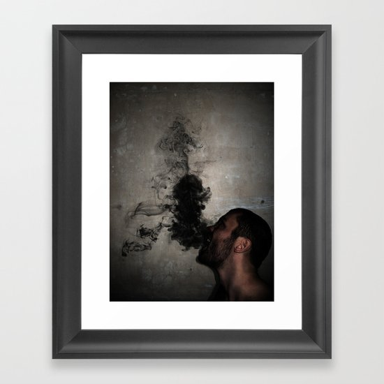 Letting the darkness out Framed Art Print