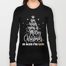 I'm Queer LGBT Pride Shirts Christmas Gifts Long Sleeve T-shirt