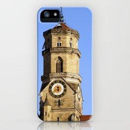 Hauptturm der Stiftskirche in Stuttgart iPhone Case