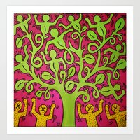 keith haring Art Prints featuring Copy of Tree of Life - Keith Haring by JeyJey Artworks