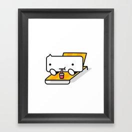BUB-YO says chill. Framed Art Print